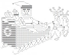 Santa Claus in ASCII Text Art