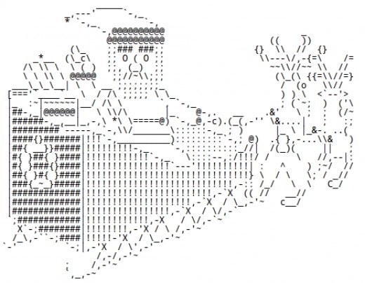 Santa Claus in ASCII Text Art   Holidappy