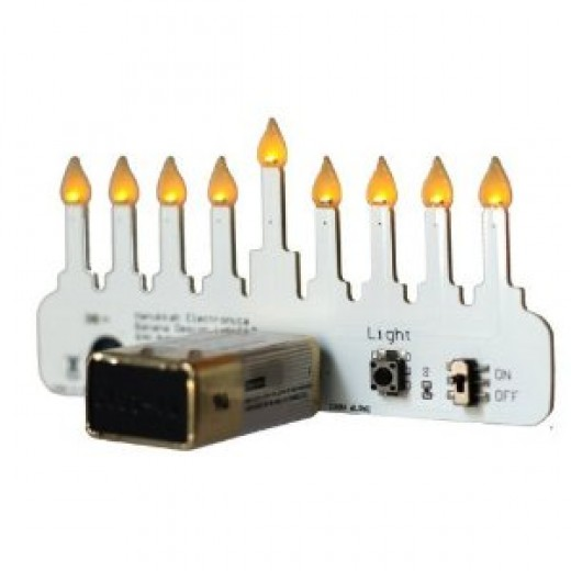 Small LED Menorah