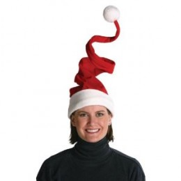 Deluxe Plush Wired Santa Hat - Beautiful on women, great for any Christmas party