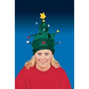 Polar Fleece CHRISTMAS TREE - Warm and decorative, you can add some LED lights to the hat to light it up!