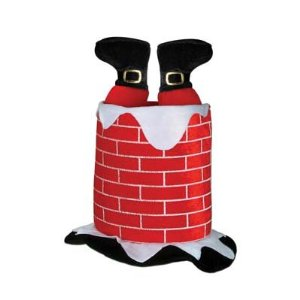 Plush Santa Chimney Hat - Funny Hat - Crack Your Friends