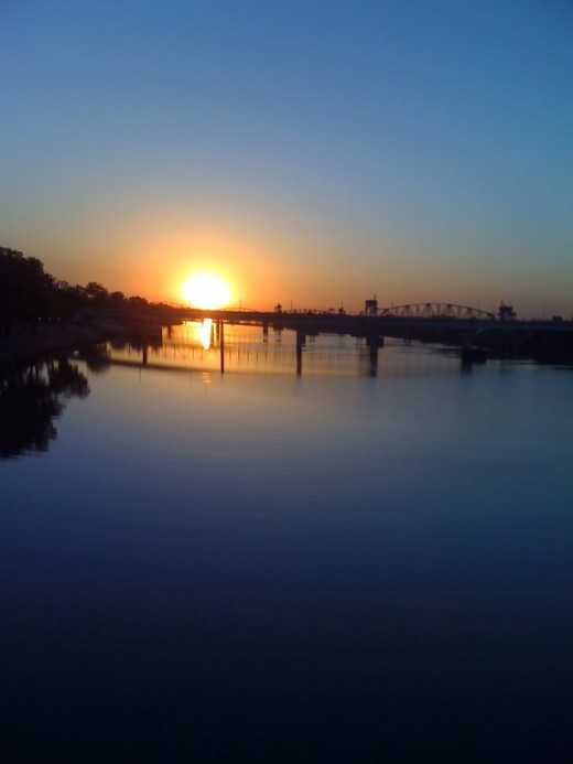 I took this pic while walking with my friends in the race, on the bridge in little rock arkansas.