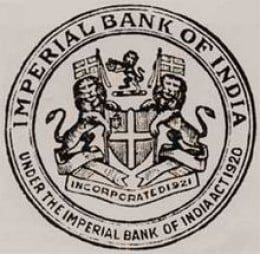 seal of Imperial Bank of India.