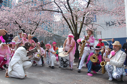 Cherry Jam, Downtown Vancouver, celebrated by The Carnival Band.