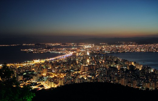 Florianopolis by night