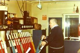 Signalman in the 1970s - simplified cabin layout in many instances on branch lines were a result of sidings or branches being lifted and 'sight control' was overtaken by light control (automation was here to stay)