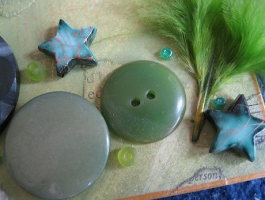 Buttons as embellishments