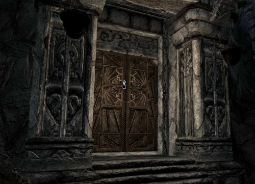 Skyrim House of Horrors Entrance - Soon to be the hero's free house in Skyrim