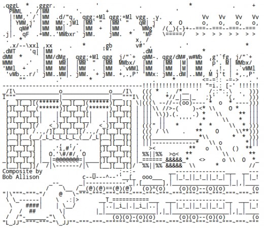 Christmas by the Fireplace in ASCII Text Art