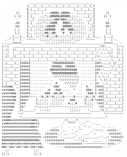 Christmas by the fireplace in ascii text art for Ascii text decoration