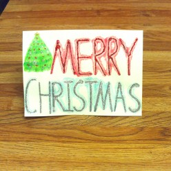 Making Glittery Christmas Cards