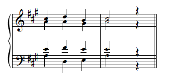 Example 29--Ex. 18 transposed to A major.