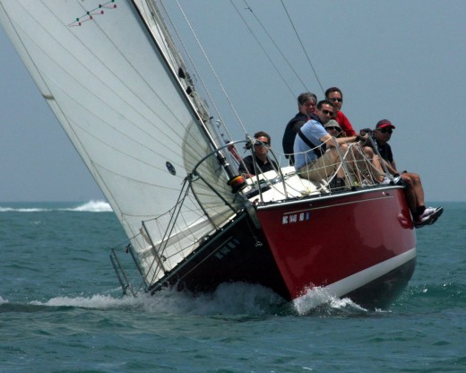 C&C 35 in DBC Regatta, Lake St. Clair
