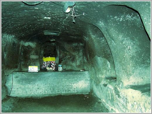 Inside of Goa Gajah Temple.