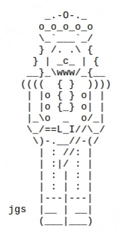 The Christmas Nutcracker in ASCII Text Art