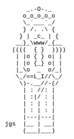 The Christmas Nutcracker in ASCII Text Art