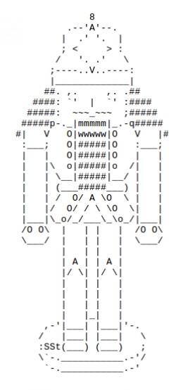 The christmas nutcracker in ascii text art for Ascii text decoration