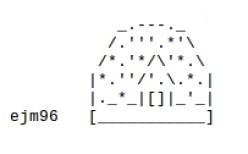 The Christmas ASCII Text Art House