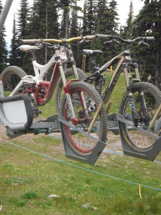 Mountain Bikes on Sunburst Chairlift