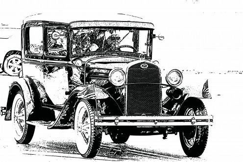 Vintage Ford car