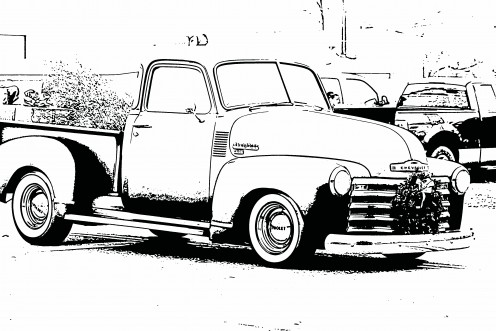 Ford Pick Up Truck Clip Art together with Free Coloring Sports Cars as well Hot wheels bumperstickers likewise Ford Truck Coloring Page furthermore Classic Truck Coloring Pages. on vintage chevy trucks