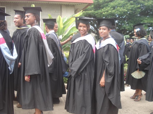 Fresh graduates from college