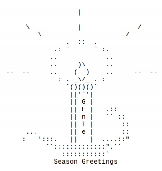 Christmas ornaments bells and candles in ascii text art for Ascii decoration