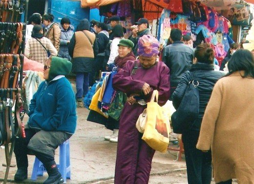 Narantuul Market is a lively place.
