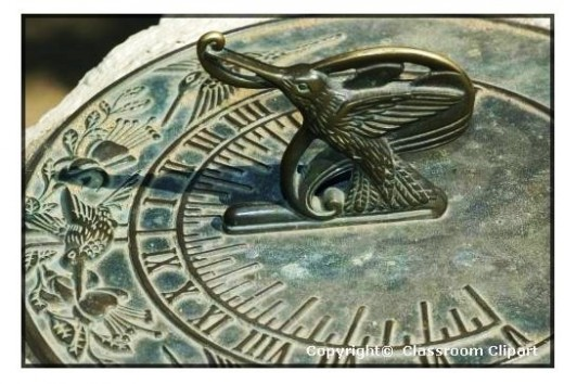 Visual aids, like this sundial, helps visual learners see what thte teacher is trying to explain.