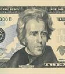 $20 Bill Andrew Jackson