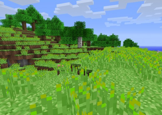 Glorious minecraft alpha green!