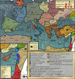 Conquer Club Third Crusade map - one of hundreds with access to all players, free.