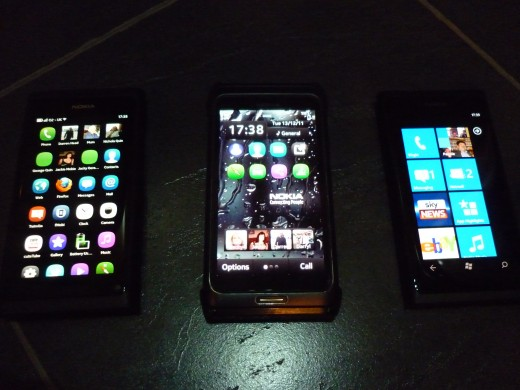 Homescreens, Meego,Symbian and Windows Phone