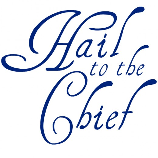 Hail to the Chief inauguration clip art