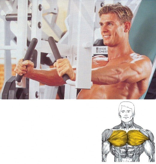 Build your pectoralis major and minor muscles with the chest press machine