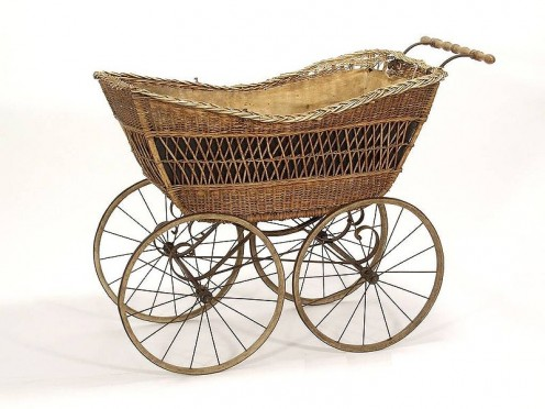 A bassinet on wheels? 1910