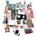 A fun set containing vintage fashion and pictures from the 50s. Love the dresses especially they're so cute and fashionable, in my opinion.