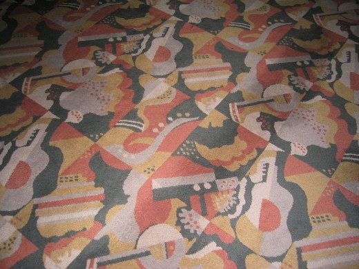 Carpet in the lobby of Radio City Music Hall, Manhattan, New York City