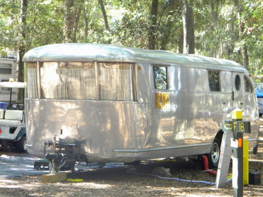 a classic 1946 spartan travel trailer
