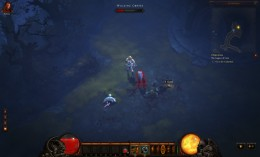 Fighting both a Walking Corpse and Crawling Torso in the Diablo 3 Beta.