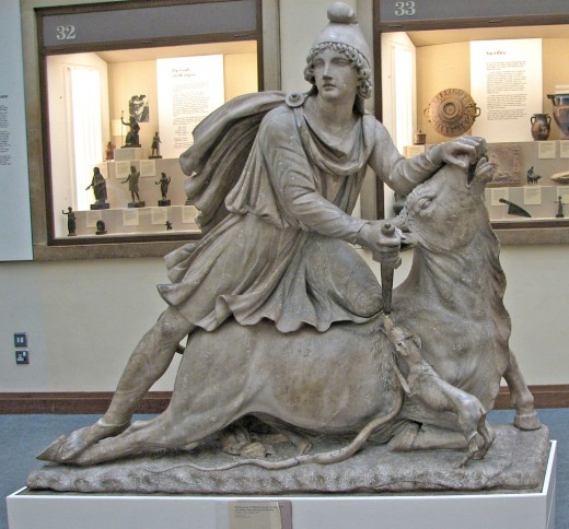 Mithras was the central god of Mithraism, a syncretic Hellenistic mystery religion of male initiates that developed in the Eastern Mediterranean in the 2nd and 1st centuries BC and was practiced in the Roman Empire from the 1st century BC to the 5th