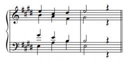 Complete I chord, tenor a bit too high.