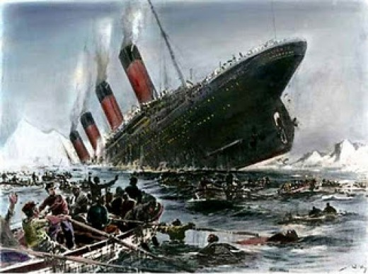 Titanic Sinking, artist Willy Stöwer, Public Domain