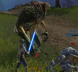 SWTOR Lightsaber Quest Forge Guardian - a tough foe despite the lightsaber