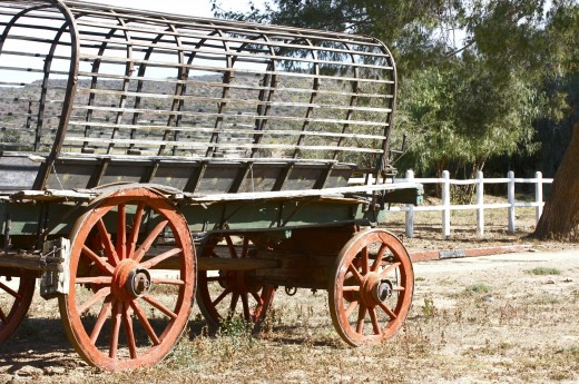 Old Ox Wagon sitting in Yard