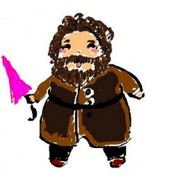 Hagrid as depicted by an avid HP fan.