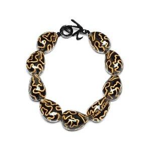 Zandra Rhodes black and gold chunky bead necklace