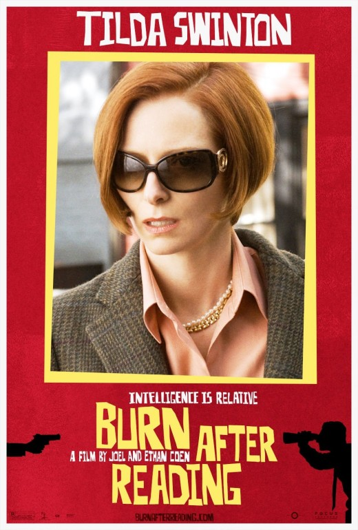 Tilda Swinton Burn After Reading movie poster