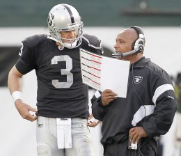 The season is starting to get away from Raider quarterback Carson Palmer and head coach Hue Jackson.